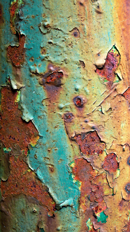 Metal Green Peeling Paint Rust